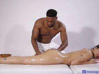 Black man suits energized woman prevalent more than just massage