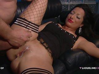 Priscilla Salerno gets her cunt shot about cum after hot coitus