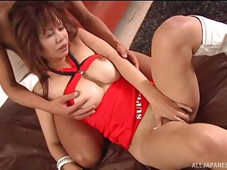 Wild gender at abode with natural boobs Japanese hottie Atou Mako