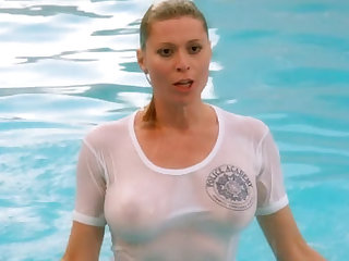 Nude Celebrities in Soaked T- Shirts