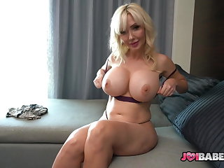Busty Cougar Teacher Victoria Lobov Gives Student JOI