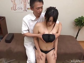 Serious XXX cam action with a curvy Japanese tie the knot and her physician