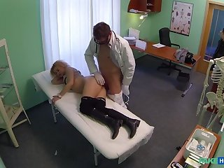 Cheating Blonde Sucks And Fucks Doctor Probe Striking A Deal