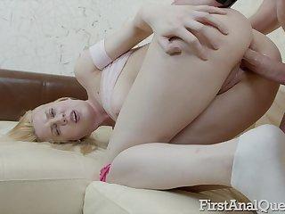 Gaffer Blonde Virgin Avrora Sky Gets Sodomized