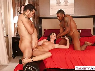 MILF India Summer fucking in the bedroom with her brown eyes