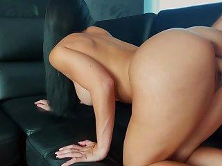 Big Tit Bruenette Gets A Creampie