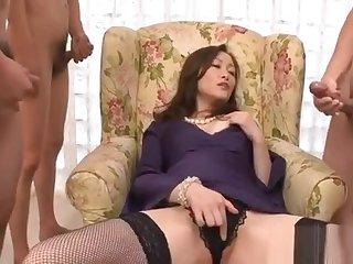 Take charge japanese naughty blowjob