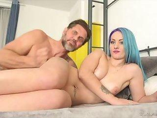 Tattooed Teen Monica's Big-Cock Enjoyment from