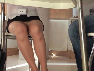 Amateur Japanese secretary gets will not hear of tits and pussy pleasured