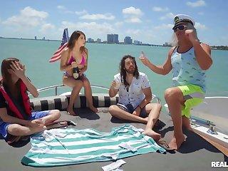 Super-best boat sex gang with seaman & semen