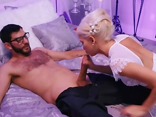 Couple culminates wedding with awesome sex in the bedroom
