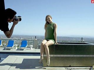 Wild bonking by the window in the air tractable model Jillian Janson